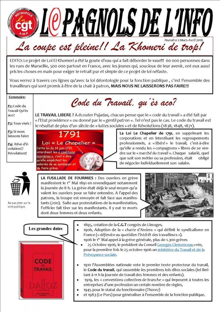 journal L'ipagnols de l'info n°2. p1