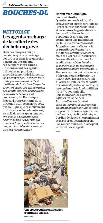 article de la marseillaise du 24 Mars 2017