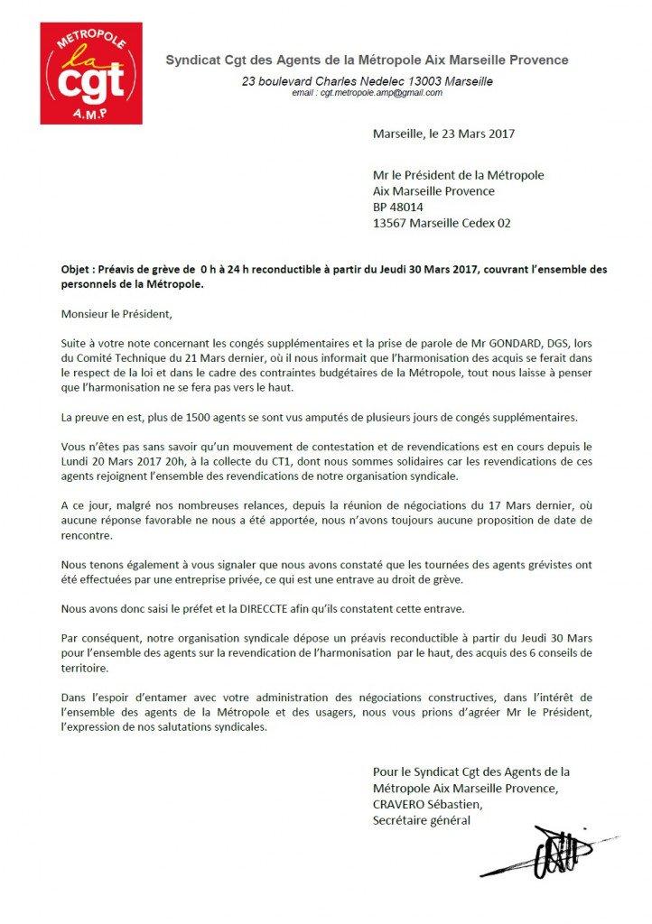 préavis de grève reonductible pour l'ensemble des agents