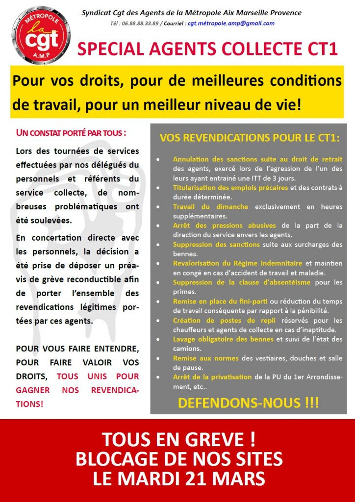 tract Collecte CT1 21 Mars 2017