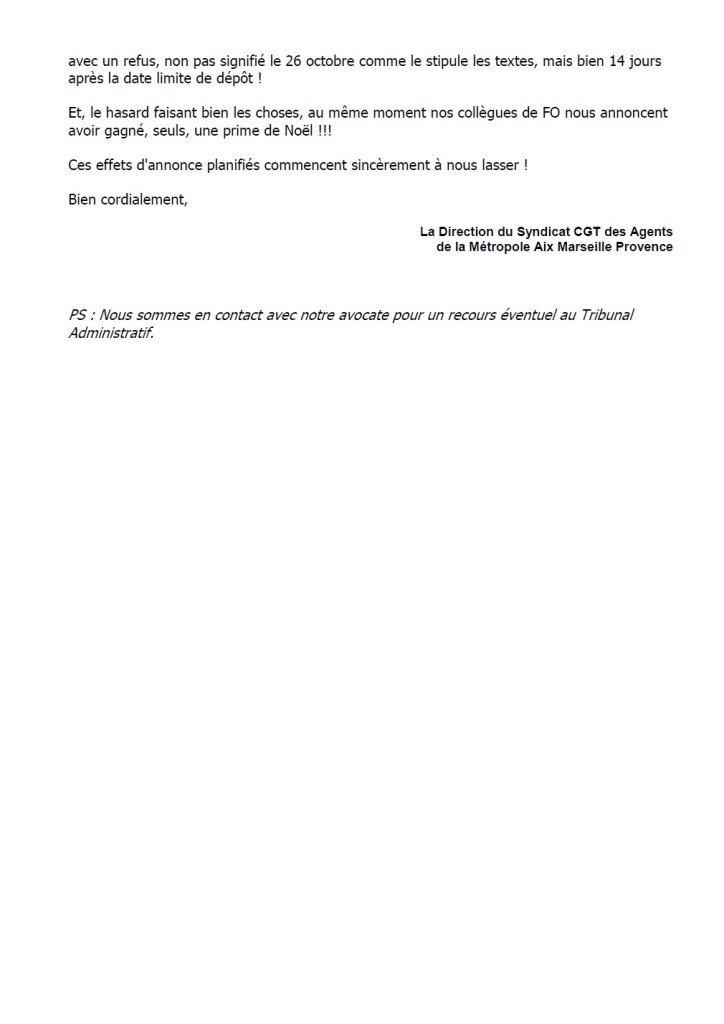 Flash info prime et refus liste CAP C p2