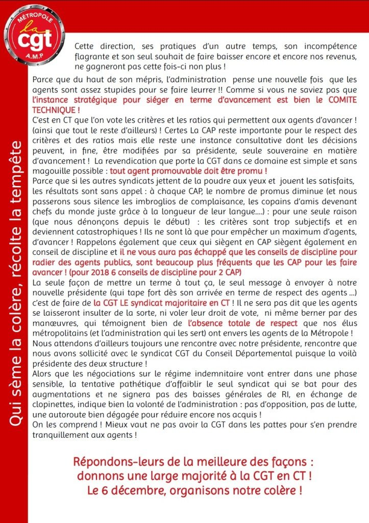 lettre tract CAP Cp2